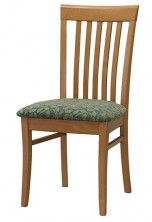 Rimini ST Slat Back Side Chair C412. Stained Timber. Any Fabric Colour