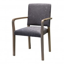 Baltimore Arm Chair C692. Clear Natural Or Stain. Any Fabric