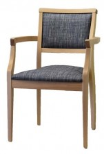 Rosetta Arm Chair C669. Clear Natural Finish. Any Fabric Colour