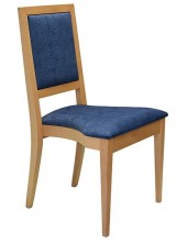 Tania Side Chair Stackable C243. Clear Natural Finish. Any Fabric Colour