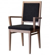 Cinquanta Three Quarter Back Side Chair With Arms C507. Natural Or Stained Timber. Any Fabric Colour