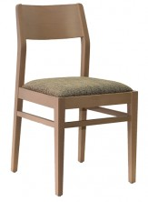 Silvia Side Chair C670. Clear Natural Finish. Any Fabric Colour