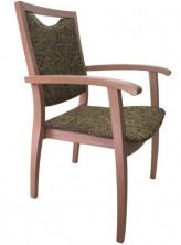 Health Arm Chair C635. Stained Timber. Any Fabric Colour