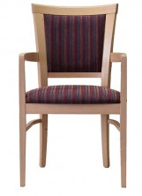 Marina Arm Chair C627. Clear Natural Finish. Any Fabric Colour