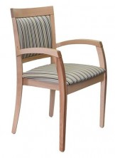 Martina Arm Chair C533. Clear Natural Finish. Any Fabric Colour