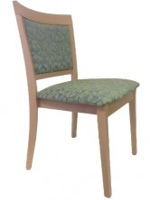 Martina Side Chair C616. Clear Natural Finish. Any Fabric Colour