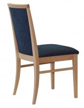 Veronica Side Chair C247. Clear Natural Finish. Any Fabric Colour