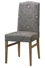 Victoria Camel Back Chair SS05. Stained Timber. Any Fabric Colour