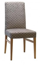 Victoria High Straight Back Chair SS05 SHB. Stained Timber. Any Fabric Colour