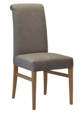 Victoria Roll Back Chair SS05 RB. Stained Timber. Any Fabric Colour