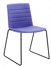 Jubel Sled Visitor Chair. Fully Upholstered With Stitching Detail. Any Fabric Colour