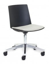 Jubel On Chrome Castor Base. Fabric Seat Pad. Any Fabric Colour