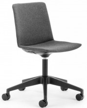 Jubel On Black Castor Base. Fully Upholstered. Any Fabric Colour