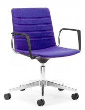 Jubel On Chrome Castor Base. Arms. Fully Upholstered With Stitching Detail. Any Fabric Colour
