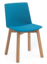 Jubel Timber Leg Visitor Chair. Fully Upholstered Shell. Any Fabric Colour