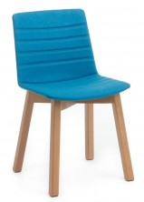Jubel Timber Leg Visitor Chair. Fully Upholstered With Stitching Detail. Any Fabric Colour