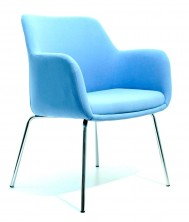 Venus 4 Point Visitor Chair. Chrome Legs. Any Fabric Colour