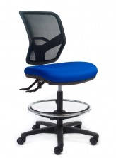 Rexa Mesh Back Drafting Chair. 2 Lever Or 3 Lever. Any Fabric Colour