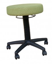 Alpha Stool 400 Dia Round. Gas Lift. Any Fabric Colour
