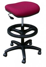 Lynx Stool With Footring Drafting Kit. Gas Lift. Fabric Any Colour