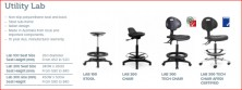 Laboratory And Industrial Non Slip. Polyurethane Seats And Backs. For Easy Cleaning