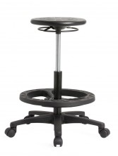 Lab 100 Stool. 350 Dia Round Seat. Gas Lift. Footring