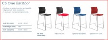 CS One Bar Stool. Options Black, White, Red Or Blue Plastic Shell. Option Upholstered Seat Extra. Any Colour