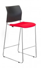 CS One Bar Stool. Extra Upholstered Seat Option. Fabric Any Colour