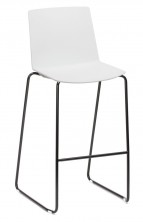 Jubel Sled Stool. Plastic Shell, White, Black, Sand, Grey