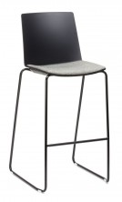 Jubel Sled Stool With Upholstered Seat Pad Option. Any Fabric Colour