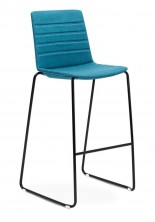 Jubel Sled Stool. Fully Upholstered With Stitching Detail