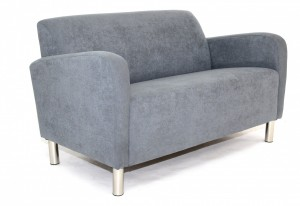 Design 2   Seater Lounge. Avail 3 Seater. Chrome Legs. Any Fabric Colour