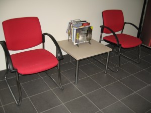 Venice Linea Sled Base Chairs With Arms. Chrome. Any Fabric Colour