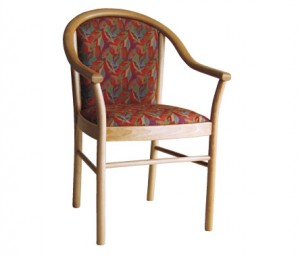 Manuela Arm Chair. Timber Frame Natural Finish. Any Fabric Colour