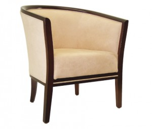 Mastello Tub Chair C211. Stained Timber Frame. Any Fabric Colour