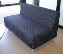 Zephyr 2 Seater Lounge. No Arms. Also Available 3 Seater. Any Fabric Colour