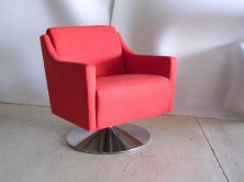 Que Swivel Single Tub Chair. Any Fabric Colour