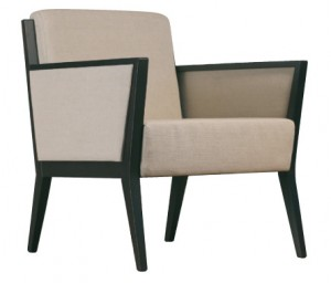 Cinquanta C509 FA Single Lounge. Fabric Seat And Back. Fabric Arm Infills. Stained Frame. Any Fabric