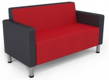 Koosh With Arms. 2 Seater Available 3 Seater. Chrome Legs. Any Fabric Colour