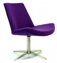 Harrison Chair. Chrome 4 Star Base. No Arms. Any Fabric Colour