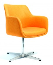 Venus Visitor Chair. Chrome 4 Star Base. Any Fabric Colour