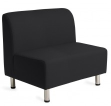 Chi Lounge. No Arms. 2 Seater Available 3 Seater. Chrome Legs. Any Fabric Colour