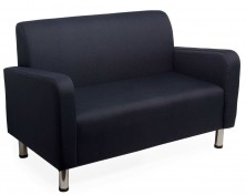 Chill Lounge With Arms. 2 Seater Available 3 Seater. Chrome Legs. Any Fabric Colour