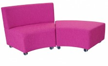 Glow Lounge Ottoman With Back And Without Back. Any Fabric Colour
