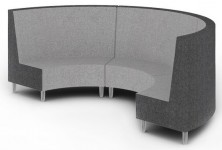 Quiet Round Modular Reception Seating. 3200 Outer Diametre. Available High Back And Low Back. Any Fabric Colour