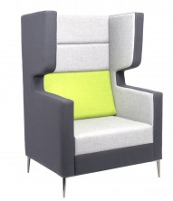 Wing Single Quiet Lounge. Any Fabric Colour