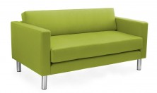 Lulu 2 Seater Lounge With Arms. Now With Split Seat And Back Cushion. Any Fabric Colour. Avail 3 Seater