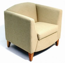 Venetian Single Lounge. Available 2 Seater. Timber Legs. Any Fabric Colour