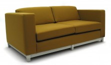 Diablo 2 Seater Lounge. Available 3 Seater. Chrome Metal Frame. Any Fabric Colour