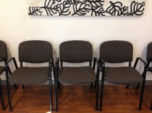 Delegate Goulburn Single Waiting Room Chairs With Arms. Black 4 Leg Frame. Any Fabric Colour